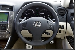 2009 Lexus IS 250C Sports Luxury steering wheel