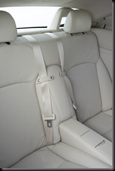 2009 Lexus IS 250C Sports Luxury rear seats