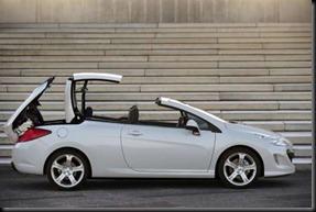 Peugeot 308cc top folding