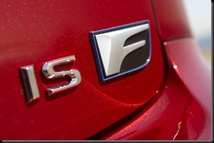 2008 Lexus IS F badge