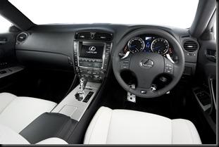 2008 Lexus IS F interior