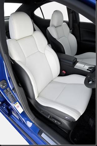 2008 Lexus IS F front seats