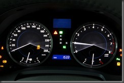 IS 350 instrument cluster