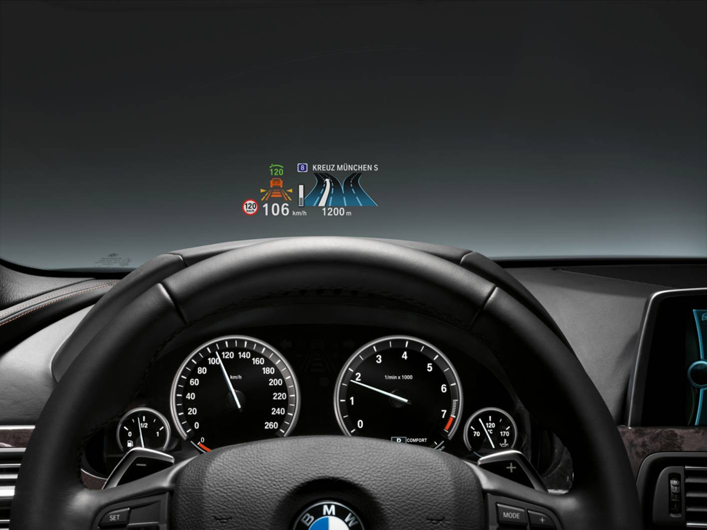 bmw head-up display: precision as featured in a fighter jet