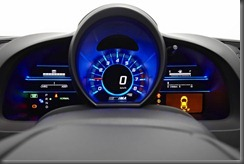 Honda CR-Z luxury speedo and dash