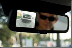 peugeot 4008  reversing camera screen in mirror