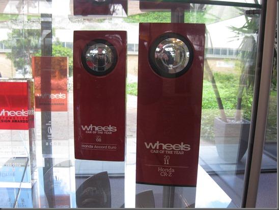 CRZ wheels car of the year award