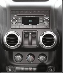 Jeep Wrangler Special Ops centre console close up