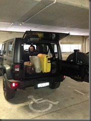 Jeep Wrangler Special Ops with luggage