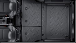 Toyota Fj Cruiser  falt cargo area rear seats folded down