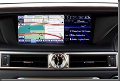 2012 Lexus GS 450h Sports Luxury showing 12.3 inch screen (pre production model shown)