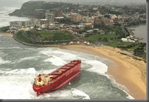 ship beached at newcastle