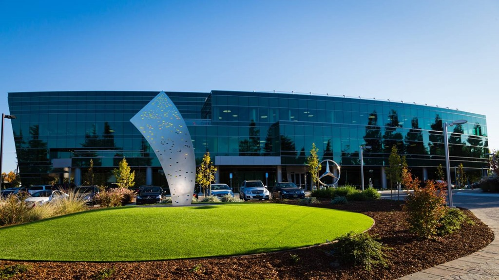 Grand opening of new mbrdna headquarters and mercedes benz for Mercedes benz sunnyvale