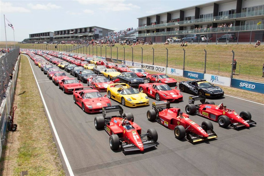 ... A Record Showing Of 140 Ferrariu0027s In New Zealand ...