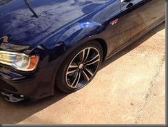 300 SRT flat tyre