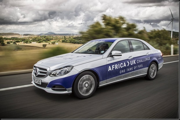 Mercedes-Benz E 300 BlueTEC HYBRID england to africa on a single tank gaycarboys (1)