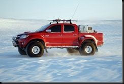Toyota HiLux - first vehicle to reach the magnetic North Pole