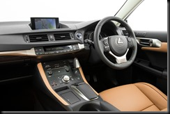 2014 Lexus CT 200h Sports Luxury interior