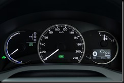 2014 Lexus CT 200h instruments in ECO mode
