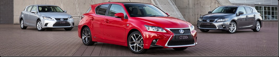 2014 Lexus CT 200h range - F Sport, Sports Luxury (right) and Luxury (left)