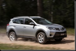 2013 Toyota RAV4 GX (optional alloy wheels shown)