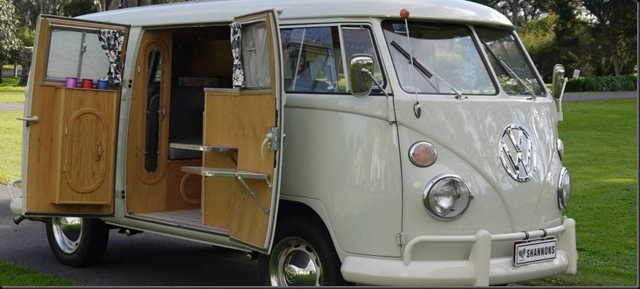 fully-restored Californian built 1966 VW Kombi 'E-Z' Camper GAYCARBOYS banner