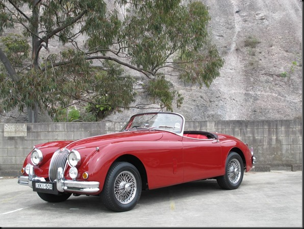 1958 Jaguar XK150 Roadster gaycarboys
