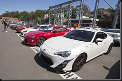 Attendees' Toyota 86s on display at the Festival of 86 gaycarboys (2)