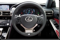 2013 Lexus IS 350 F Sport steering wheel