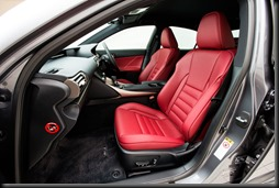 2013 Lexus IS 350 F Sport front seats