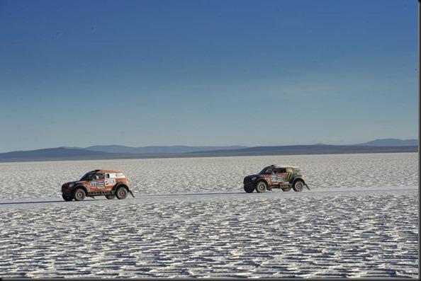 during the Dakar 2015 Argentina Bolivia Chile, Car Marathon Stage 8a / Auto Etape Marathon 8a, Uyuni to Iquique on January 11th 2015 at Uyuni, Bolivia. Photo Eric Vargiolu / DPPI
