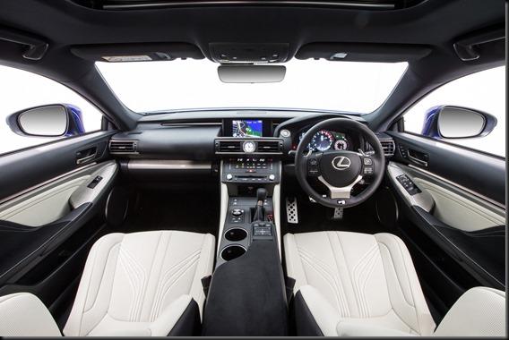 2015 Lexus RC F interior