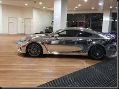 Lexus RCF in silver wrap ayt sydney city toyota  GAYCARBOYS (2)