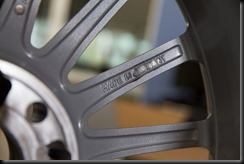 """The makers of the fake wheel even copied """"Made In Germany"""" on the back of the wheel – but then have ground this off."""