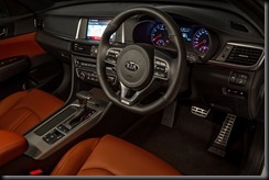 2016 Kia Optima GT Turbo red leather interior