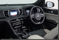 2016 Kia Sportage Platinum interior grey two-tone.