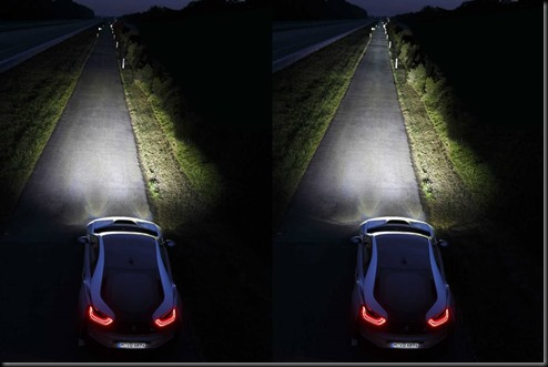 The BMW i8 is the first production vehicle to feature the innovative light technology.  gaycarboys (2)