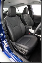2016 Toyota Prius i-Tech front seats