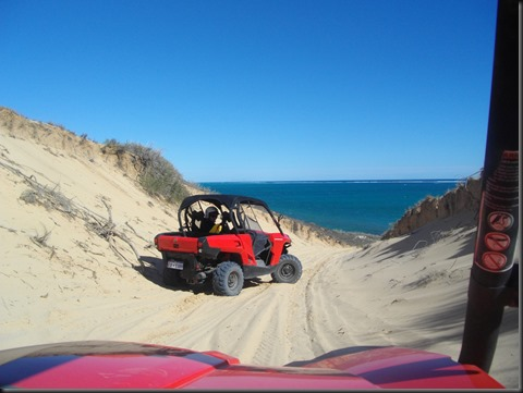 Beach buggies are the only way to fly in Coral Bay