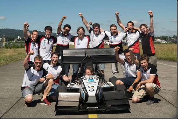 Zero to 100 kmh in 1.5 seconds Formula Student Team breaks world record with an electric racing car gaycarboys