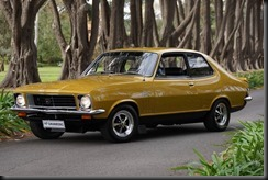 Sunburst Yellow 1973 Holden LJ Torana GTR XU-1 gaycarboys