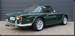 1968 British Racing Green TR5 Overdrive model fitted with the optional 'Surrey Top'
