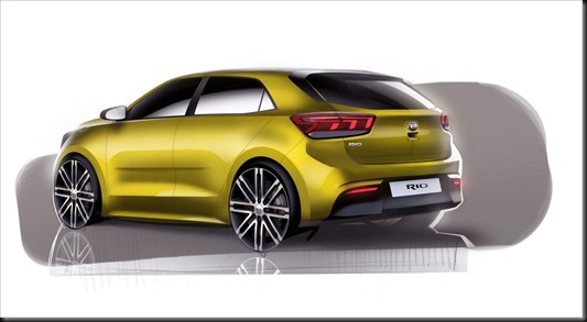 4th Generation Kia Rio Exterior Rear Quarter Rendering