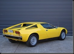 rare factory right hand drive Maserati Merak with its mid-mounted 3.0-litre V6