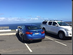 BMW 430i GranCoupe at Bald Hill Lookout above the Sea Cliff Bridge NSW