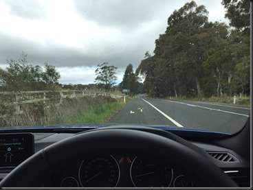 BMW 430i GranCoupe HUD Heads Up Disply on the way to Macquarie Pass