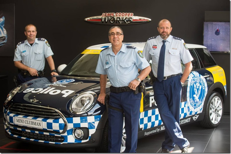 Mini gives Clubman to Newtown Police