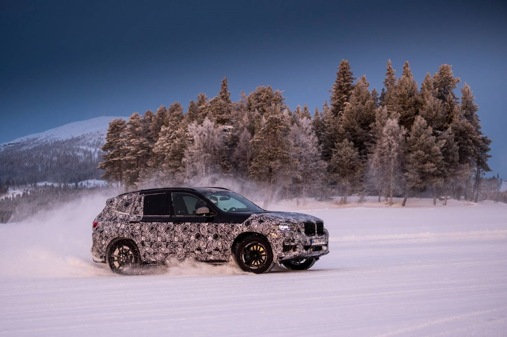 New BMW X3 undergoes wintertesting