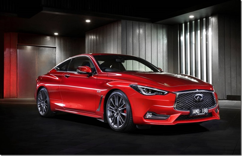 2017 INFINITI Q60 Red Sport: Designed and engineered toperform