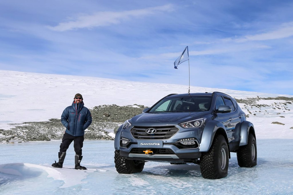Great Grandson of Sir Ernest Shackleton Drives Hyundai Santa Fe Across the Antarctic